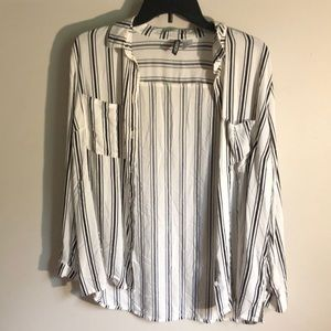 H&M button up striped blouse